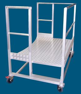 Mobile aluminium work access platform