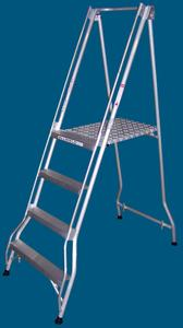 FPS12 4 step platform ladder 200kg rated