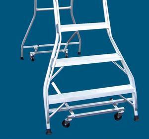 Lever action castors (HD Castors)  for 6 to 11 step folding platform ladders