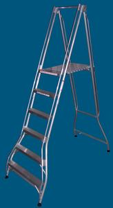 FPS18WB 6 step platform ladder wide base 200kg rated