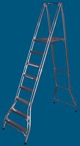 FPS24 8 step platform ladder 200kg rated
