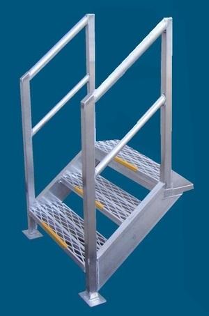 Aluminium walkway mesh stair