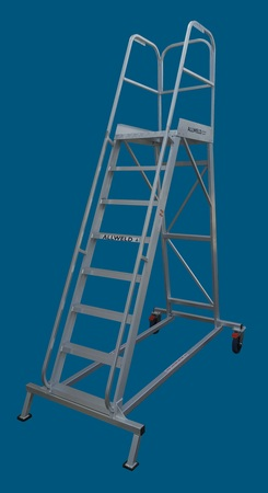 Use this platform ladder to wash your trucks - one of the Allweld Order Picker range