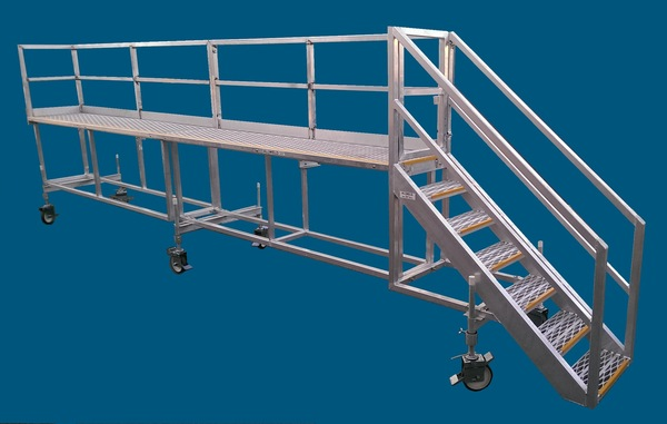 6m Long Truck Loading Platform with safety features