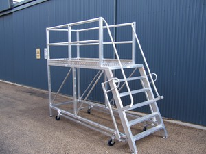 custom access platform with ladder access