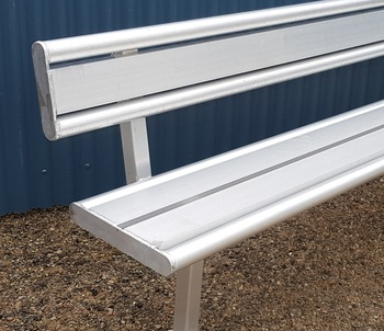 aluminium bench seat with back rest