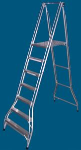 FPS21 7 step platform ladder 200kg rated