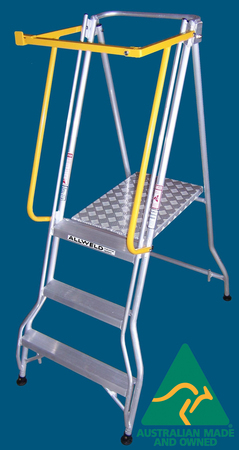 FPS09 folding platform ladder with safety gate