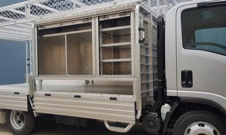 Aluminium roller door tool boxes for trucks by Bridge Aluminium
